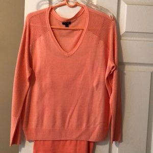 NWOT knit sweater with coordinating tank for under